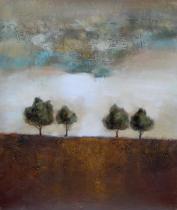 obrazy, reprodukce, Čtyři stromy