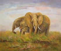 obrazy, reprodukce, Sloni
