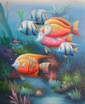 obrazy, reprodukce, Dno mora
