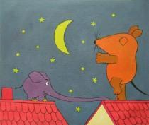 Zvířata - Snění, obrazy ručně malované
