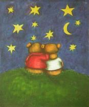 Zvířata - Klidná noc, obrazy ručně malované