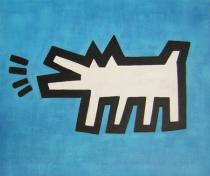 obrazy, reprodukce, Štěkající pes
