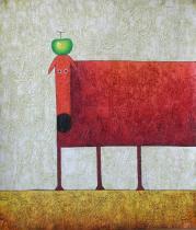 bestseler: Červený pes s jablkom