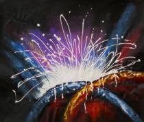 Abstraktní obrazy - Poprask, obrazy ručně malované