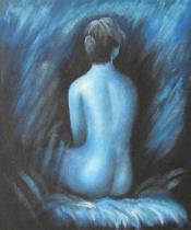 Akty - Osamělost, obrazy ručně malované