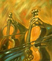 Sport a hudba - Basa, obrazy ručně malované