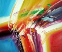Abstraktní obrazy - Náhoda, obrazy ručně malované