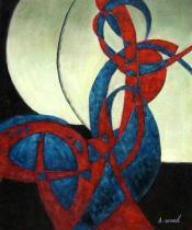 Abstraktní obrazy - Srdce a sen, obrazy ručně malované