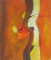 Abstraktní obrazy - Sklon stromu, obrazy ručně malované
