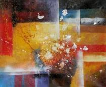 Abstraktní obrazy - Postoupení, obrazy ručně malované