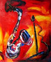 obrazy, reprodukce, Saxofón