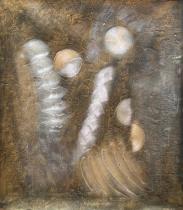 Abstraktní obrazy - Dva lidé, obrazy ručně malované