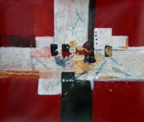 Abstraktní obrazy - Rozvaliny, obrazy ručně malované