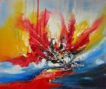 Abstraktní obrazy - Tání, obrazy ručně malované