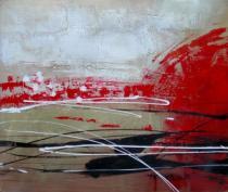 Abstraktní obrazy - Štukatura, obrazy ručně malované
