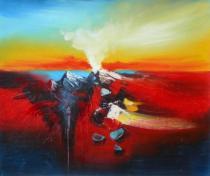 Abstraktní obrazy - Výbuch, obrazy ručně malované