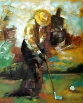 obrazy, reprodukce, Golfista