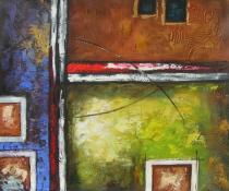 Abstraktní obrazy - Zdi, obrazy ručně malované