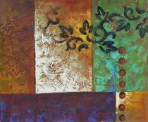 Abstraktní obrazy - Tetování na zdi, obrazy ručně malované
