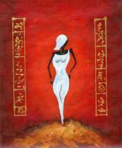 Africké motivy - Manekýna III., obrazy ručně malované