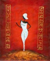 Africké motivy - Manekýna II., obrazy ručně malované
