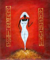 Africké motivy - Manekýna, obrazy ručně malované
