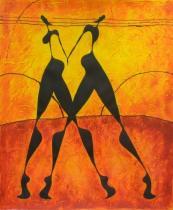 obrazy, reprodukce, Tanec ve dvou