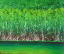 Abstraktní obrazy - Les, obrazy ručně malované