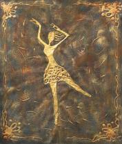 Sport a hudba - Baletka, obrazy ručně malované