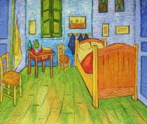 Vincent Van Gogh - Van Goghova ložnice v Arles, obrazy ručně malované