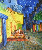 Vincent Van Gogh - Café terrace, obrazy ručně malované