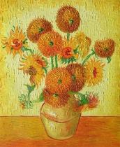Vincent Van Gogh - Čtrnáct slunečnic ve váze, obrazy ručně malované