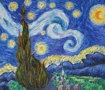 obrazy, reprodukce, Hvězdná noc