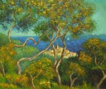 Claude Monet - Stromy na pobřeží, obrazy ručně malované