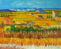 Vincent Van Gogh - Doba žní, obrazy ručně malované