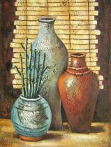 obrazy, reprodukce, Tři vázy