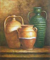 Vázy a nádoby - Tři džbány, obrazy ručně malované