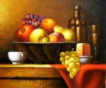 Vázy a nádoby - Nádherné ovoce, obrazy ručně malované