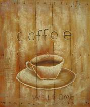 Vázy a nádoby - Káva, obrazy ručně malované
