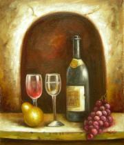 Vázy a nádoby - Nádherné víno, obrazy ručně malované