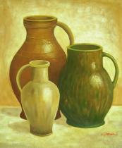 Vázy a nádoby - Keramika, obrazy ručně malované
