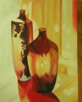 Vázy a nádoby - Vázy, obrazy ručně malované