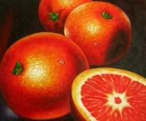Zátiší - Pomeranče, obrazy ručně malované
