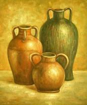 Vázy a nádoby - Amfory, obrazy ručně malované