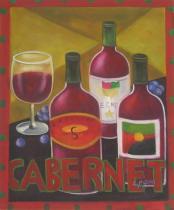 Vázy a nádoby - Cabernet, obrazy ručně malované