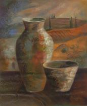 obrazy, reprodukce, Váza a miska