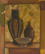 Vázy a nádoby - Kameninové nádoby, obrazy ručně malované