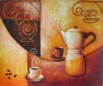 obrazy, reprodukce, Příprava kávy
