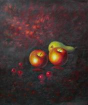 obrazy, reprodukce, Dvě jablka