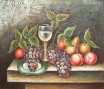 Zátiší - Čekání na hosty, obrazy ručně malované